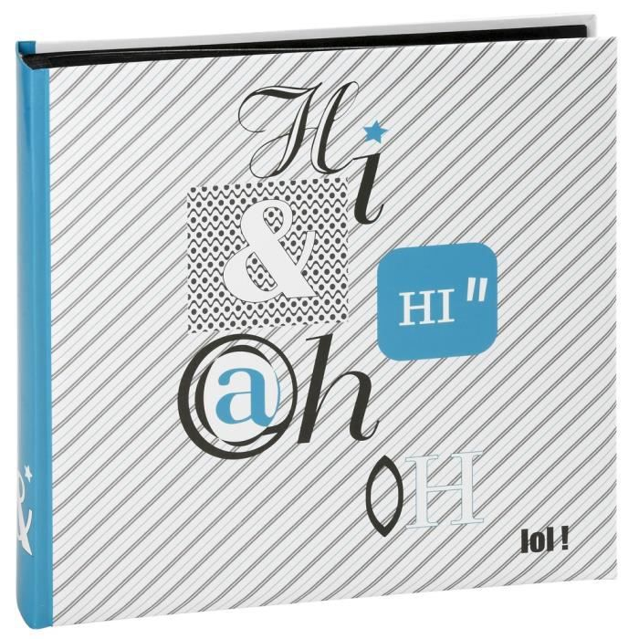 panodia album photo traditionnel lol bleu 29x29 cm 60 pages noires achat vente album album. Black Bedroom Furniture Sets. Home Design Ideas