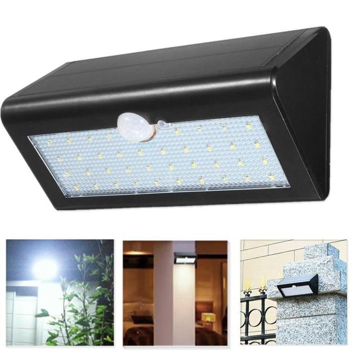 Neufu 38 led pir etanche eclairage solaire mural lampe for Lumiere de jardin led
