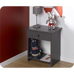 Chevet enfant color gris anthracite achat vente chevet - Table de chevet enfant pas cher ...