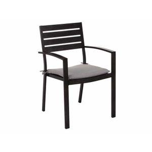 chaise de jardin bois et metal achat vente chaise de jardin bois et metal pas cher cdiscount. Black Bedroom Furniture Sets. Home Design Ideas