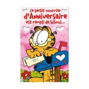 CARTE - CARTE DE VISITE Carte anniversaire Garfield Bisous