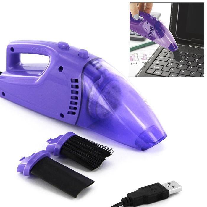 Aspirateur usb pour nettoyer clavier de pc ordinateur cran violet achat vente - Nettoyer clavier pc portable ...