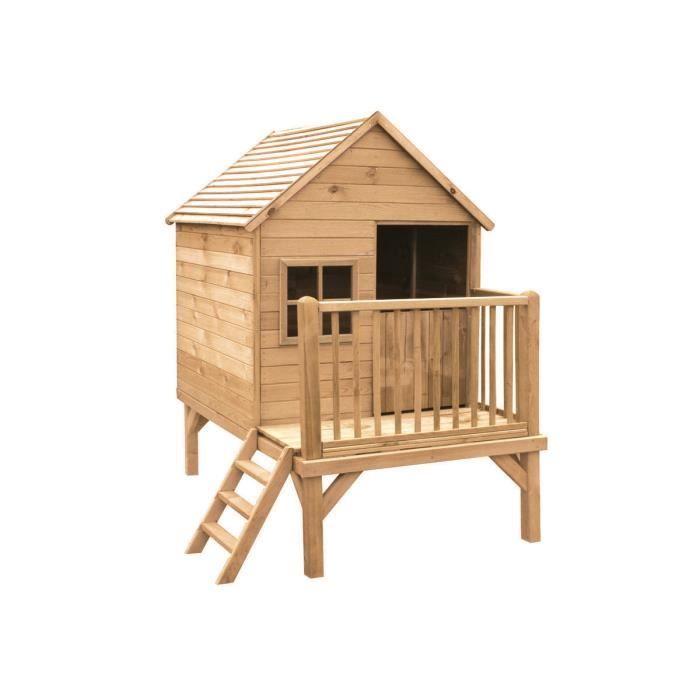 Cabane pour enfants winny 167 x 117 x 210 cm achat for Cabane en bois 5m2