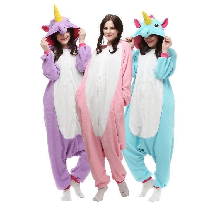 kigurumi hommes femmes licorne pyjamas combinaison halloween costume animaux v tements. Black Bedroom Furniture Sets. Home Design Ideas