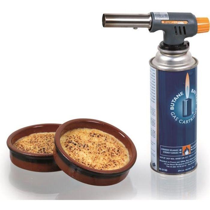 Cartouche professionnelle de gaz 400 ml pour chalumeau pro for Gaz chalumeau cuisine