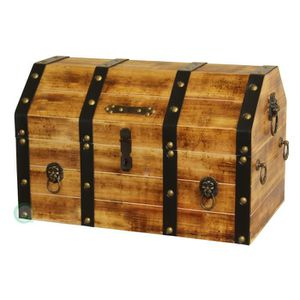 coffre de pirate en bois achat vente coffre de pirate en bois pas cher les soldes sur. Black Bedroom Furniture Sets. Home Design Ideas