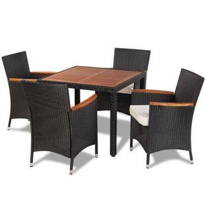 Chaise de jardin aluminium bois achat vente chaise de for Table exterieur 300