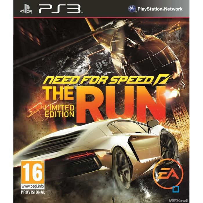 need for speed the run edt limitee jeu ps3 achat vente jeu ps3 nfs the run dition. Black Bedroom Furniture Sets. Home Design Ideas
