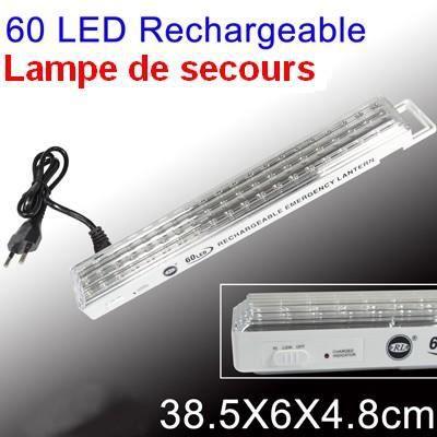 lampe de secours rechargeable 60 led achat vente lampe de poche cdiscount. Black Bedroom Furniture Sets. Home Design Ideas