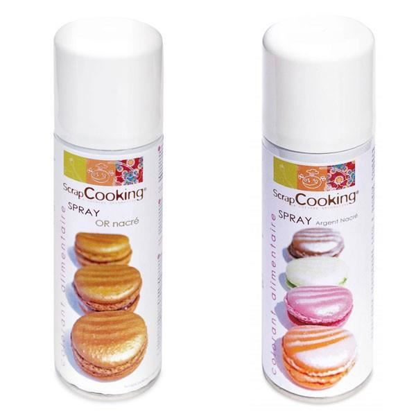 colorant alimentaire colorants alimentaires or et argent spray - Spray Colorant Alimentaire