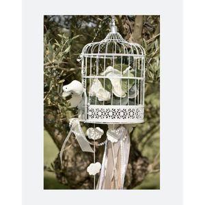 Décors de table Cage Decorative Oiseau Blanc