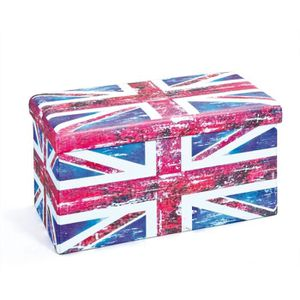 CHAISE Boîte rectangulaire - Imprimé drapeau Anglais