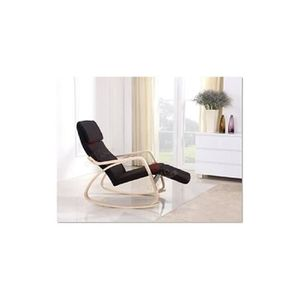 FAUTEUIL Rocking chair NOIR chaise à bascule fauteuil relax