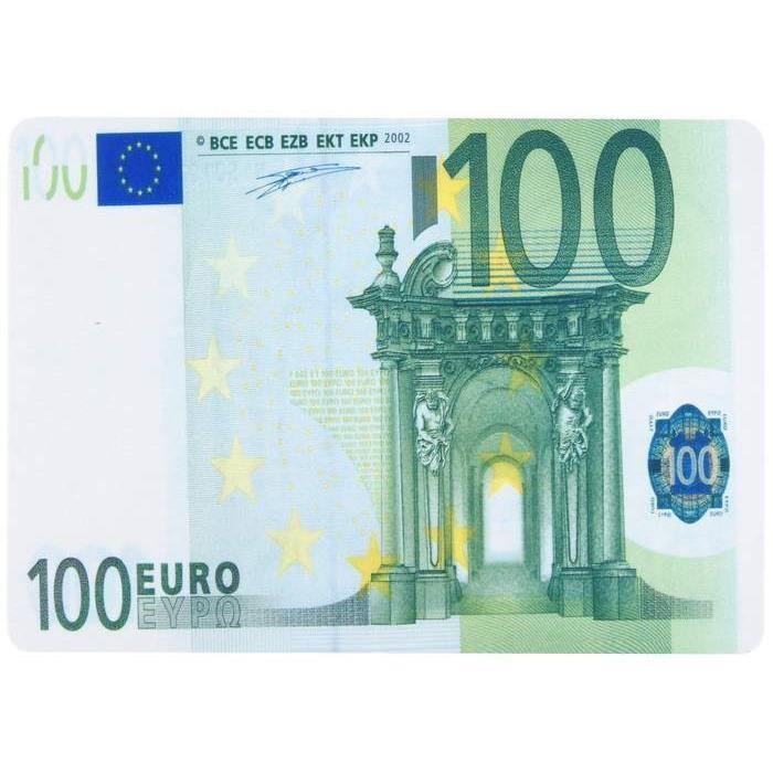 tapis de souris forme billet de banque 100 euros prix pas cher cdiscount. Black Bedroom Furniture Sets. Home Design Ideas