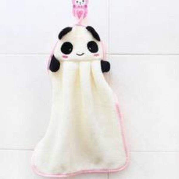 essuie main serviette panda blanc achat vente serviettes de bain soldes d t cdiscount. Black Bedroom Furniture Sets. Home Design Ideas