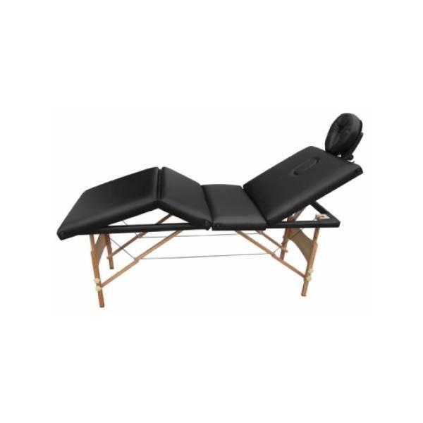 table de massage pliante bois 4 zones noir achat vente. Black Bedroom Furniture Sets. Home Design Ideas
