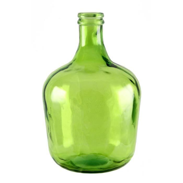 dame jeanne en verre recycl achat vente vase. Black Bedroom Furniture Sets. Home Design Ideas