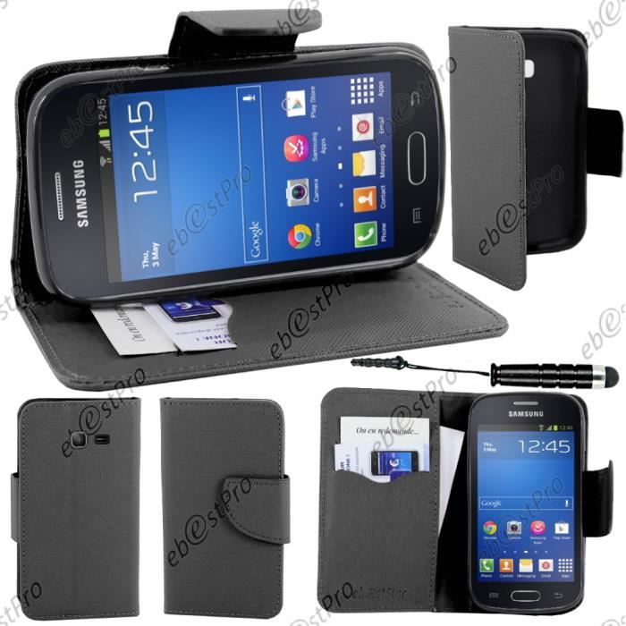 telephonie accessoires portable gsm ebeststar r etui portefeuille samsung galaxy trend f  ebe