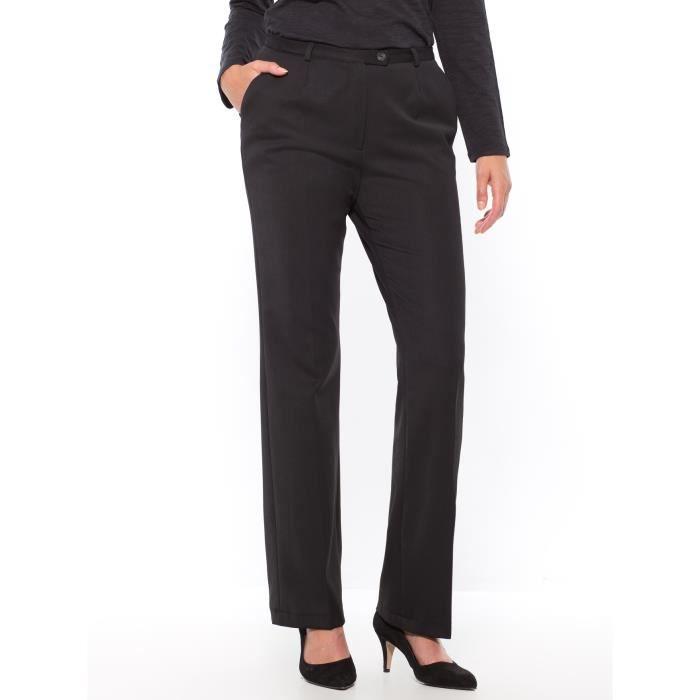 Pantalon coupe droite femme noir achat vente pantalon cdiscount - Pantalon coupe droite femme ...