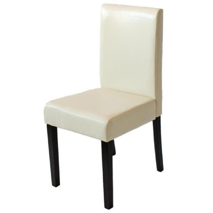 Lot de 6 chaises de salle manger littau en pu achat - Lot 6 chaises salle a manger ...