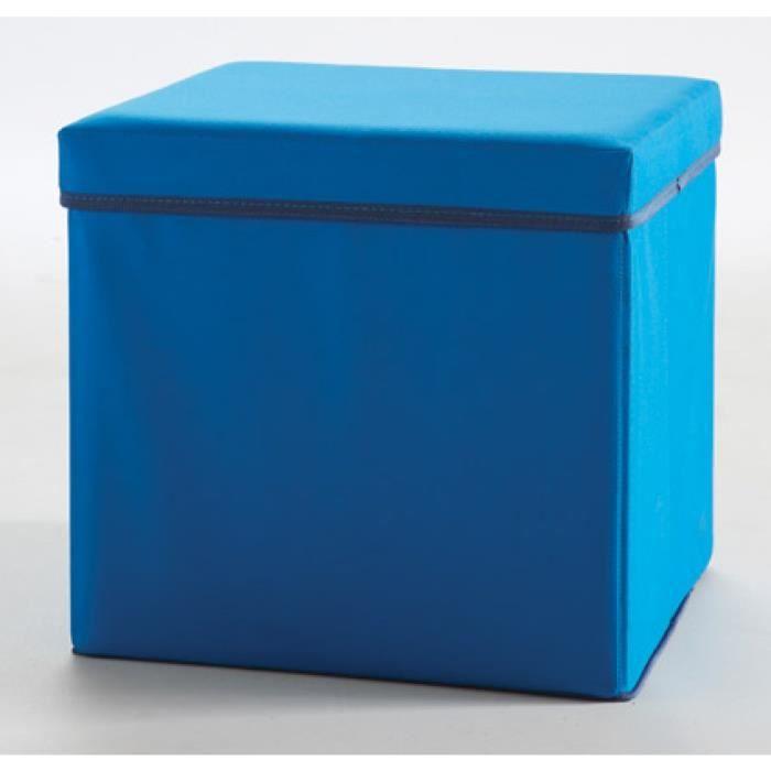 pouf table de nuit someo bleu achat vente chevet pouf. Black Bedroom Furniture Sets. Home Design Ideas
