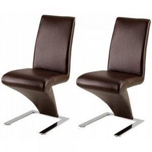 Chaises design miami chocolat x2 chocolat achat for Chaise de salle a manger de couleur