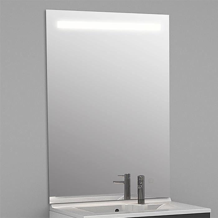 Miroir r tro clairant mirlux 80x105 cm avec for Applique miroir salle de bain avec interrupteur