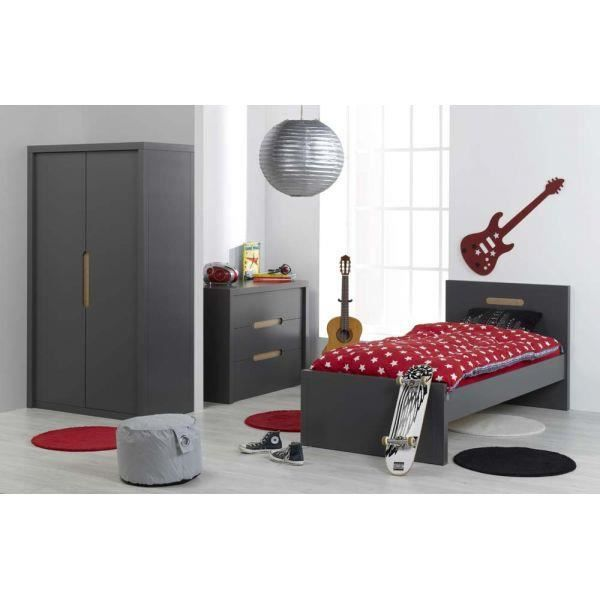 chambre enfant junior provence milo ardoise 2017 achat vente chambre compl te chambre enfant. Black Bedroom Furniture Sets. Home Design Ideas