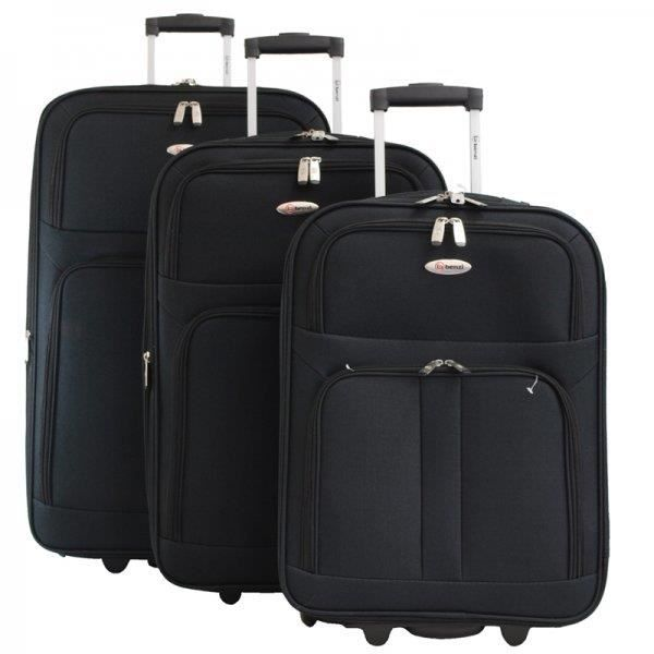 ensemble de 3 valises trolley souple marque benzi achat vente set de sacs de voyage cet. Black Bedroom Furniture Sets. Home Design Ideas