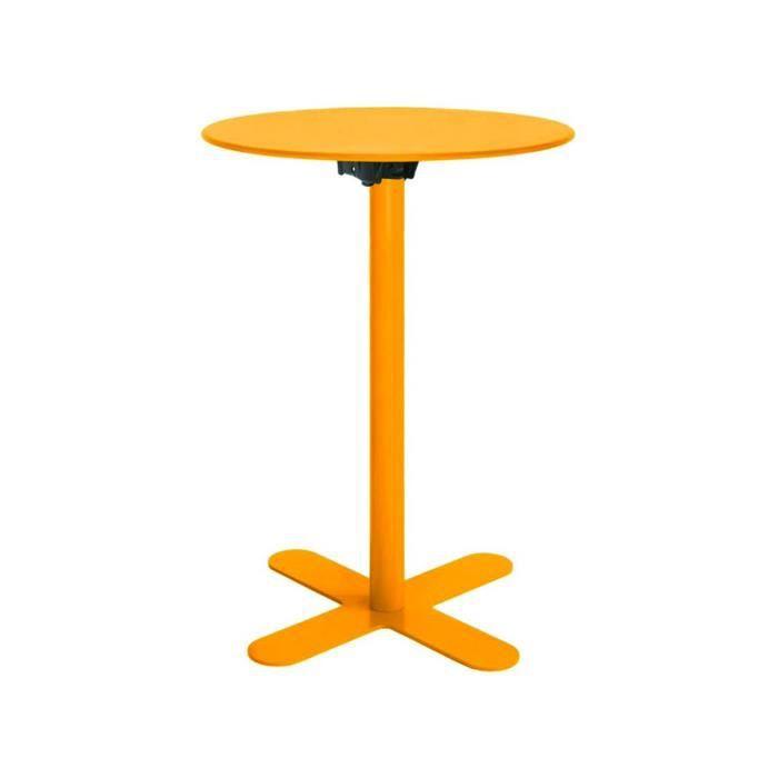 Table Haute De Jardin Design San Mateo D60 Couleur Jaune