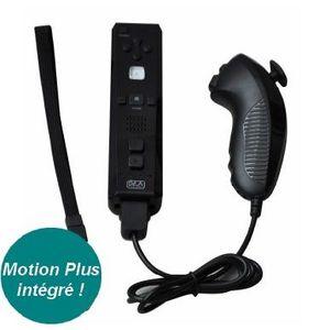 PACK ACCESSOIRE Télécommande Plus+Manette Nunchuk Noir Wii-Wii U