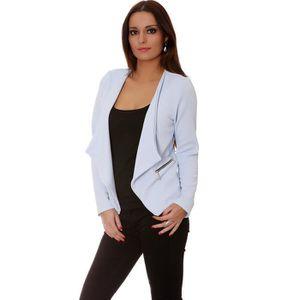 veste blazer femme bleu achat vente veste blazer femme bleu pas cher cdiscount. Black Bedroom Furniture Sets. Home Design Ideas