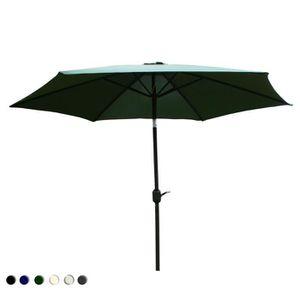 bentley garden parasol parapluie m t inclinable ext rieur m tal vert achat vente. Black Bedroom Furniture Sets. Home Design Ideas