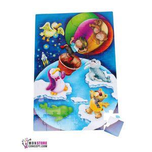 PUZZLE Puzzle géant «Tour du monde»