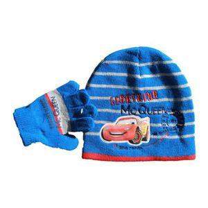 BONNET - CAGOULE lot bonnet et gants cars disney bleu