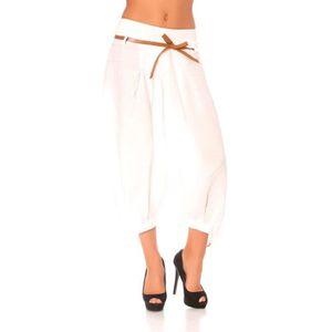 Sarouel blanc femme pas cher - Pantalon en lin homme pas cher ...