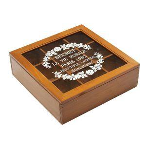 boite de rangement en bois avec compartiment achat vente boite de rangement en bois avec. Black Bedroom Furniture Sets. Home Design Ideas
