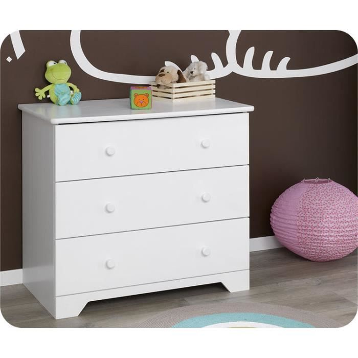 Commode b b nature blanche plan langer amovi achat for Commode table a langer blanche