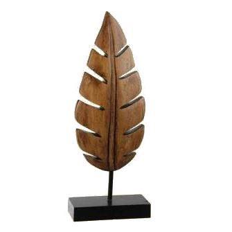 Feuille design en bois 36 5 cm achat vente objet for Objets decoratifs maison