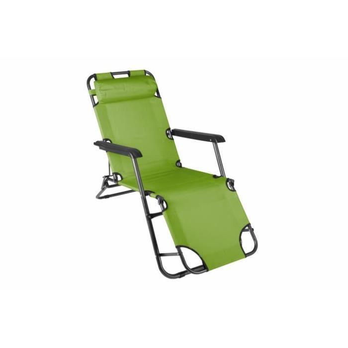 transat pliable vert m ridienne achat vente chaise longue transat pliable vert m ridi. Black Bedroom Furniture Sets. Home Design Ideas