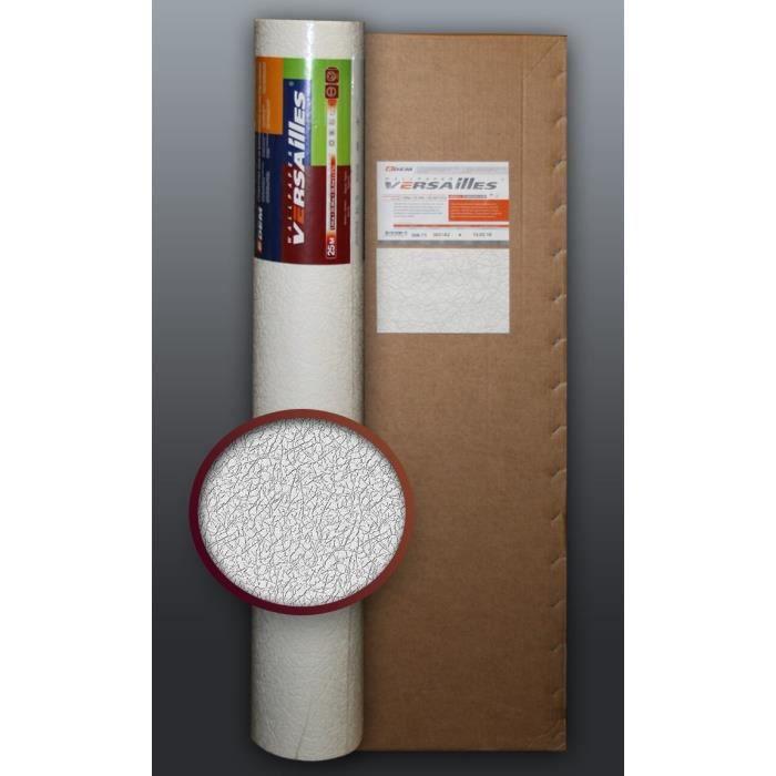 Papier peint non tiss blanc peindre edem 306 70 for Papier peint blanc relief