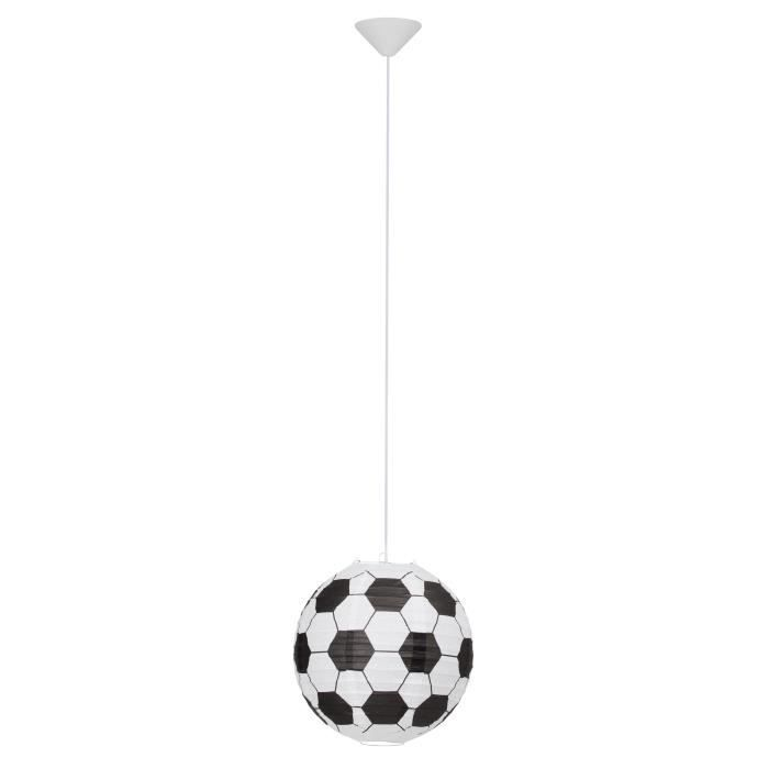 Suspension boule japonaise en papier diam tre 30cm soccer for Suspension 3 boules japonaises