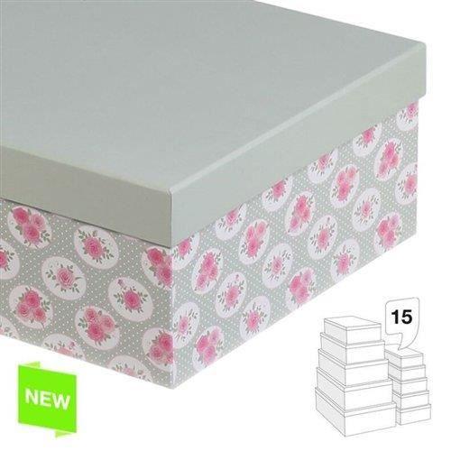 Ensemble 15 boites carton rose achat vente boite de rangement cdiscount - Decoration boite carton ...