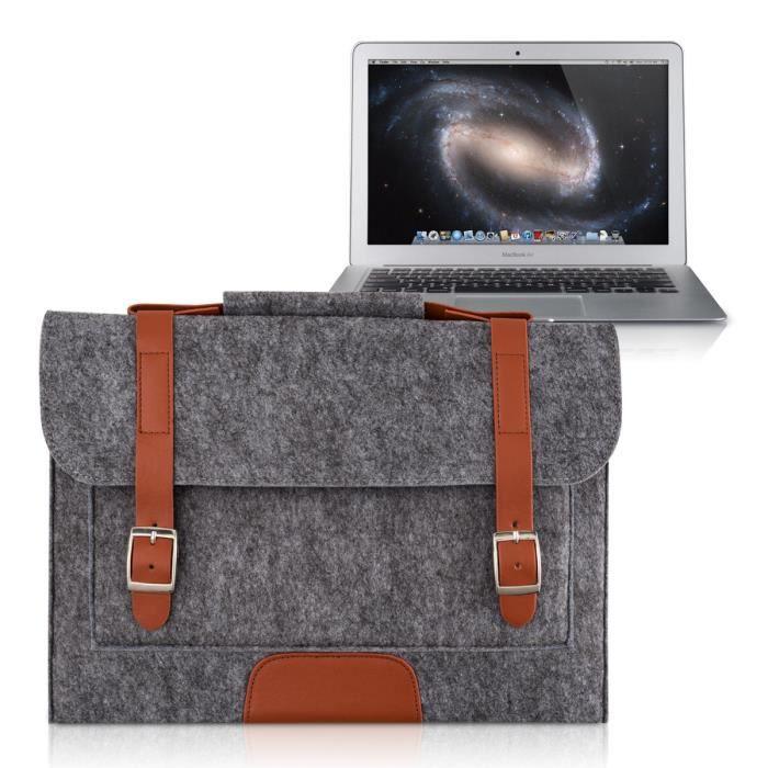 kwmobile 174 housse de protection pour apple macbook air 13 fait de durable protection en gris