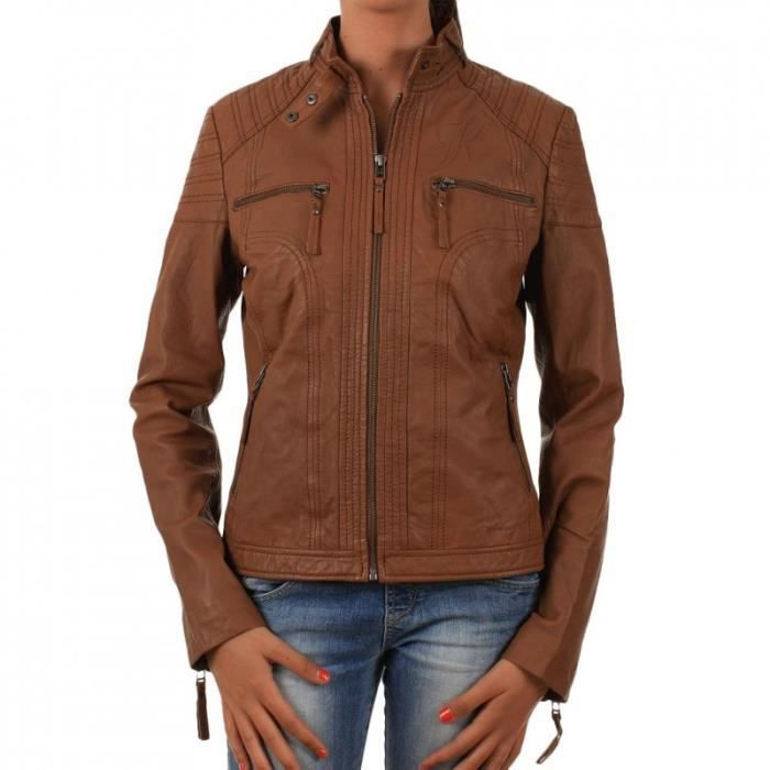veste kaporal femme marron achat vente veste veste. Black Bedroom Furniture Sets. Home Design Ideas