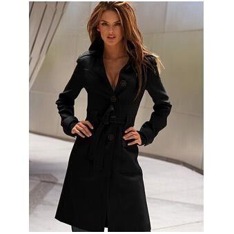 long manteau femme veste caban tendance noir achat vente veste cdiscount. Black Bedroom Furniture Sets. Home Design Ideas