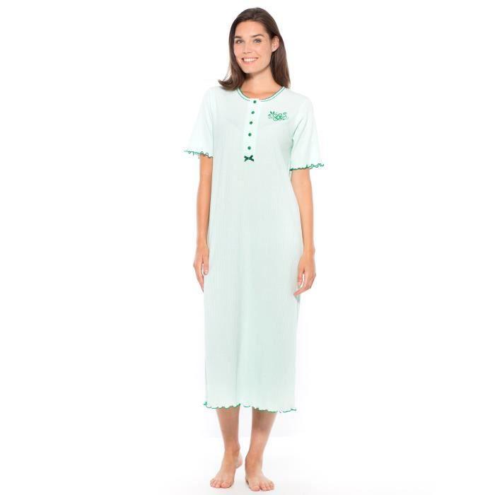 chemise de nuit longue manches courtes femme aqua achat vente pyjama chemise de nuit. Black Bedroom Furniture Sets. Home Design Ideas