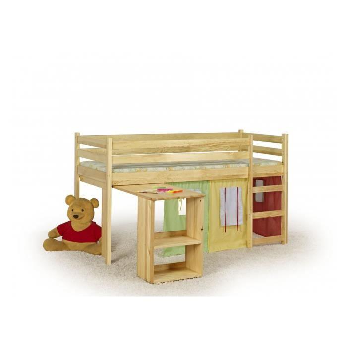 lit enfant mezzanine emi pin achat vente lit mezzanine. Black Bedroom Furniture Sets. Home Design Ideas
