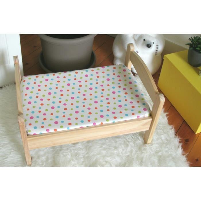 drap housse 90 x 140 cm pastilles achat vente drap housse cdiscount. Black Bedroom Furniture Sets. Home Design Ideas