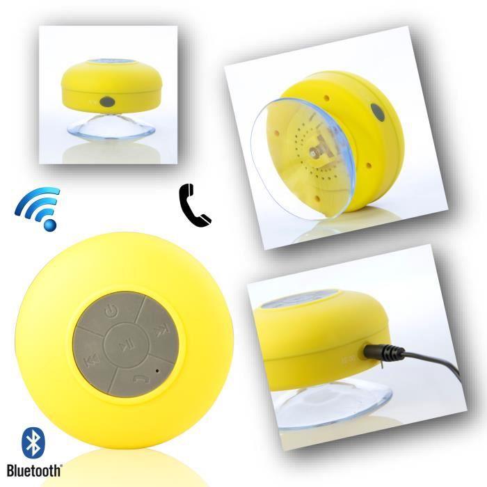 mini enceinte haut parleur bluetooth tanche pour iphone samsung htc nokia lg jaune c ble tv. Black Bedroom Furniture Sets. Home Design Ideas